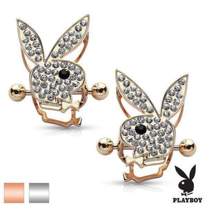 PLAYBOY Paved Bunny Nipple Shield PAIR 14G-Totally Pierced