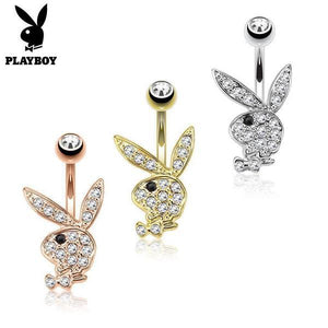 Playboy Paved Bunny Belly Bar 14G-Totally Pierced