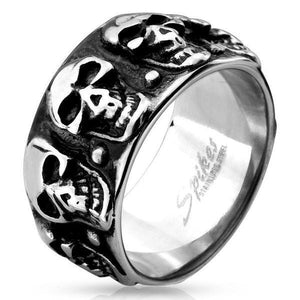 Multi Skull Ring-Totally Pierced