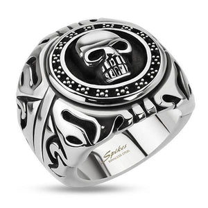 Skull Shield Ring-Totally Pierced