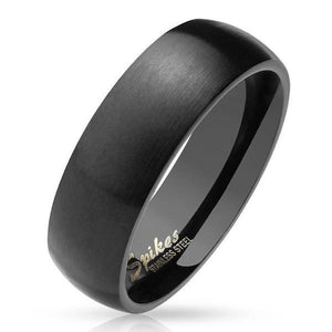 Black Matte Dome Ring-Totally Pierced
