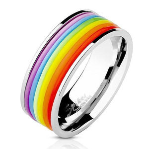 Rubber Pride Ring-Totally Pierced