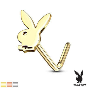 Playboy Nose L Bend 20G-Totally Pierced