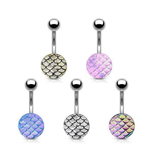 Scales Belly Bar 14G-Totally Pierced