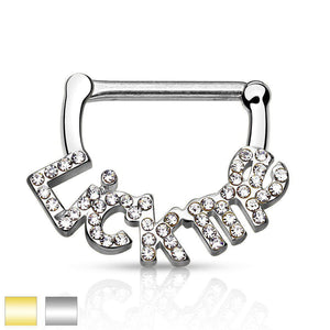 LICK ME Nipple Clicker 14G-My Body Piercing Jewellery ?id=15252399980618