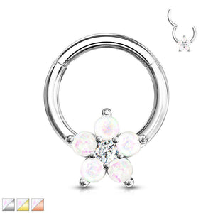Opal Glitter Flower Hinged Ring 16G-My Body Piercing Jewellery ?id=15252435501130