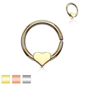 Heart Bead Ring 18G 16G-Totally Pierced