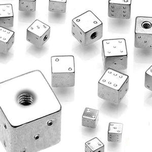 Steel Dice Threaded End 16G 14G-Totally Pierced
