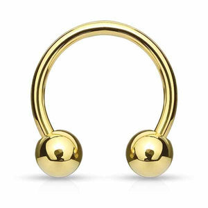 Gold IP Horseshoe 18G 16G 14G-My Body Piercing Jewellery ?id=15252282507338