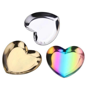 Steel Heart Jewellery Tray-Totally Pierced