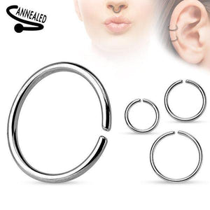 Surgical Steel Continuous Ring 20G 18G 16G 14G-Totally Pierced