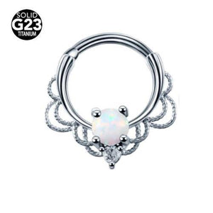 Titanium & Brass Filigree Opal Septum Clicker 16G-My Body Piercing Jewellery ?id=15252569096266