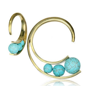 Triple Turquoise Ear Weights PAIR-Totally Pierced