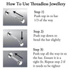 Threadless Gem Ball Labret 20G 18G 16G-My Body Piercing Jewellery ?id=27986404999242