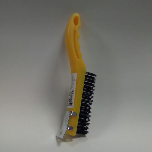 4 Row Plastic Handle Wire Brush