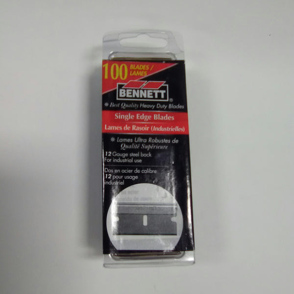 Bennett 100 Pack Single Edge Razor Blades