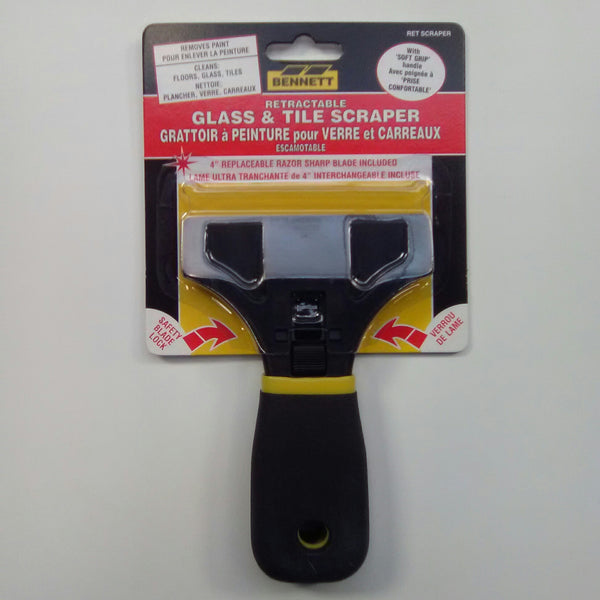 Bennett Retractable Glass &Tile Scraper