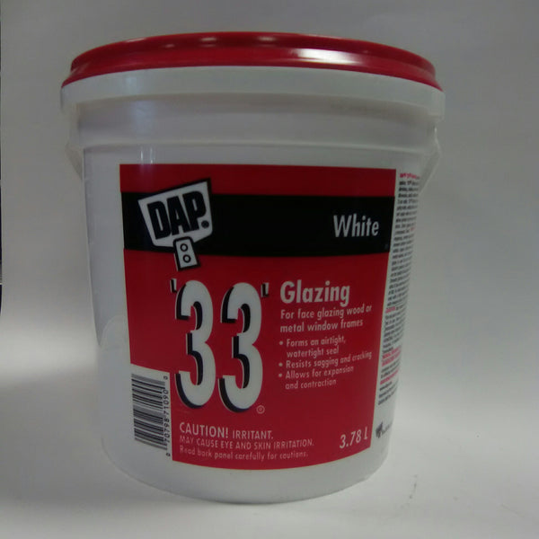 Dap 33 Glazing White 3.78L