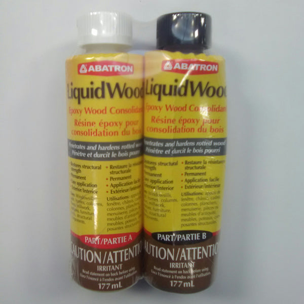 Abatron Liquid Wood Epoxy Wood Consolidant 2parts 177ml