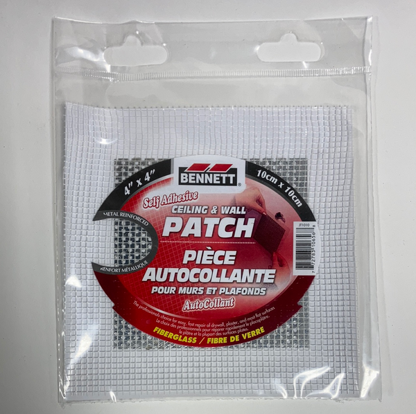 "Bennett Adhesive Drywall Patches 4""x4"""