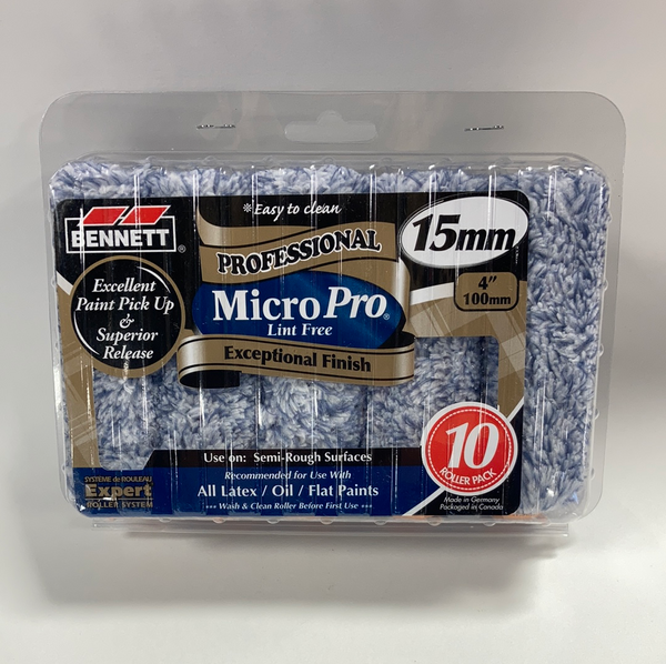 "Bennett 4"" Microfibre 15mm (10 pack)"