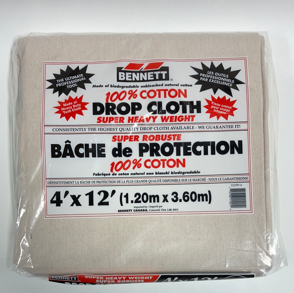 Super Heavy Weight Cotton Drop Sheets 4x12