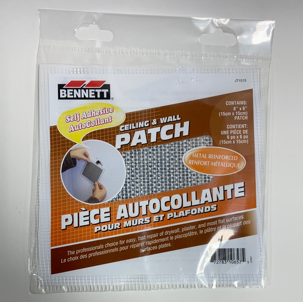 "Bennett Adhesive Drywall Patches 6""x6"""