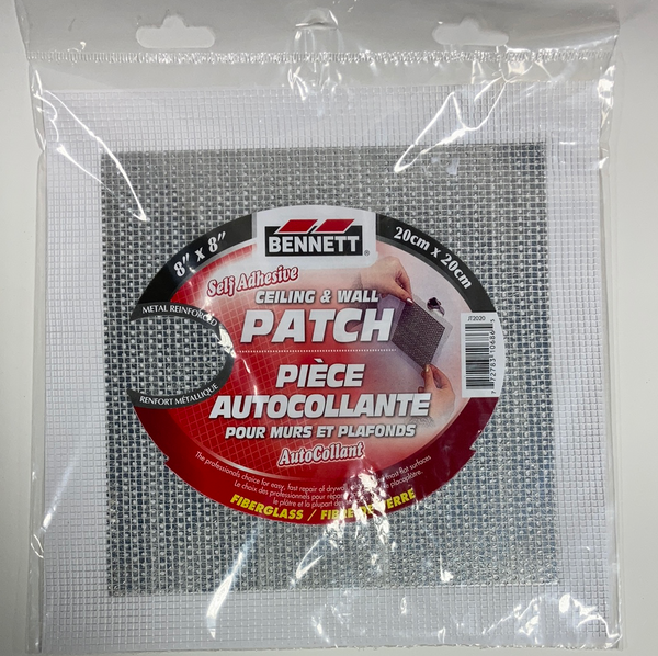 "Bennett Adhesive Drywall Patches 8""x8"""