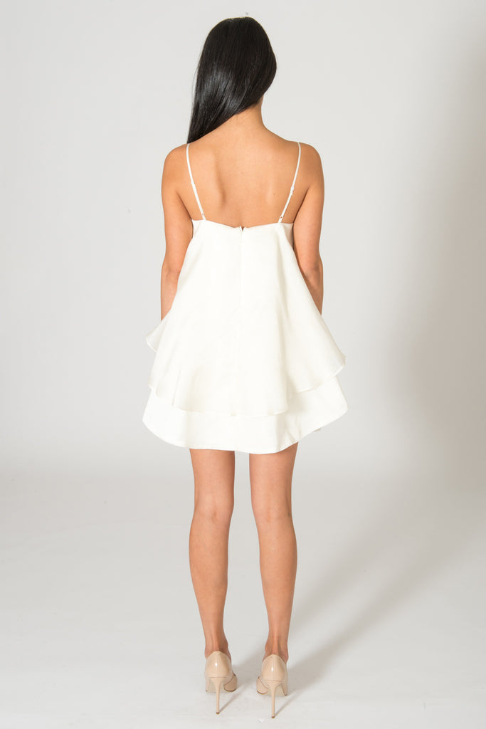Keepsake Follow The Sun Ivory Silk Dress
