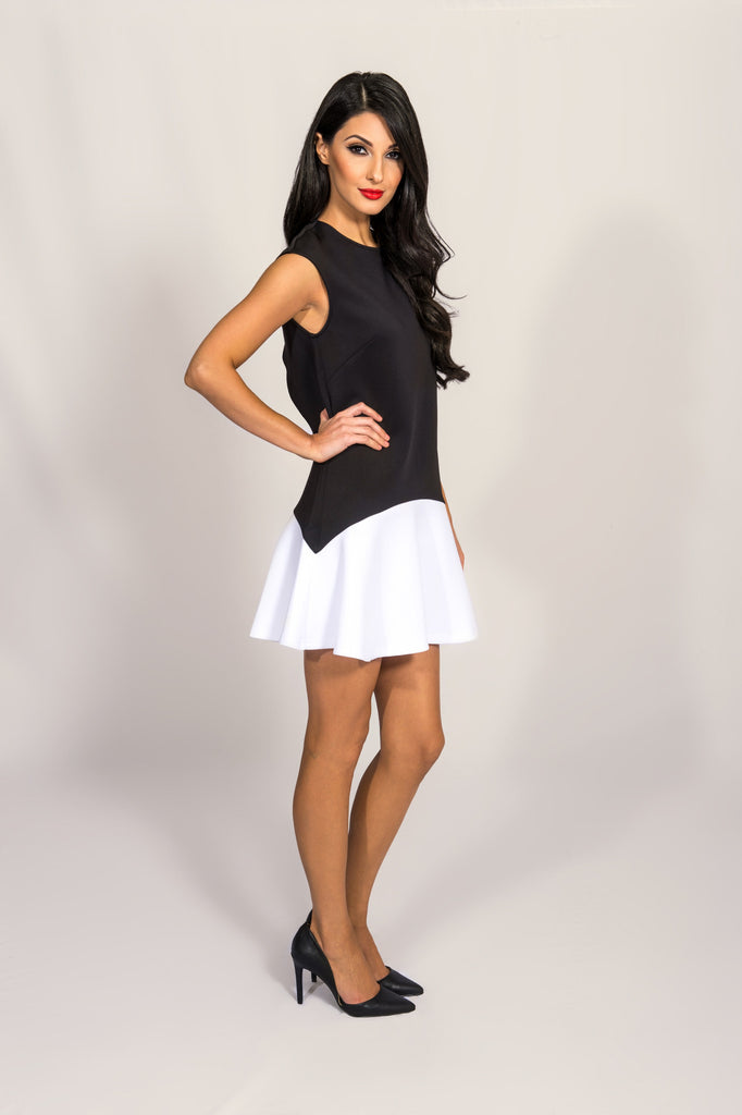 Fifth Label Black And White Anchor Dress
