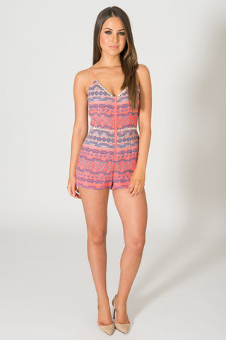 Saylor Madison Striped Romper