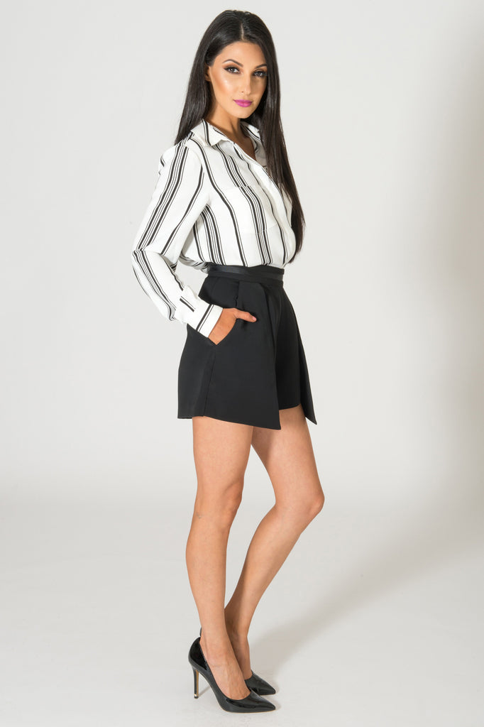 Cameo Real Talk Striped Blouse