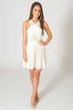 Saylor Greta White Leather Dress