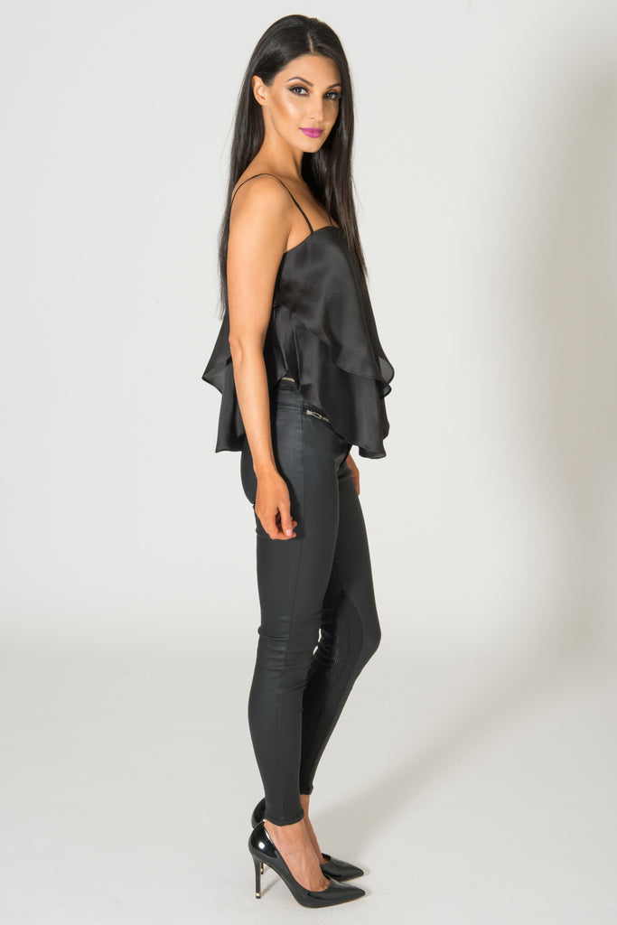 Keepsake Follow The Sun Black Silk Top