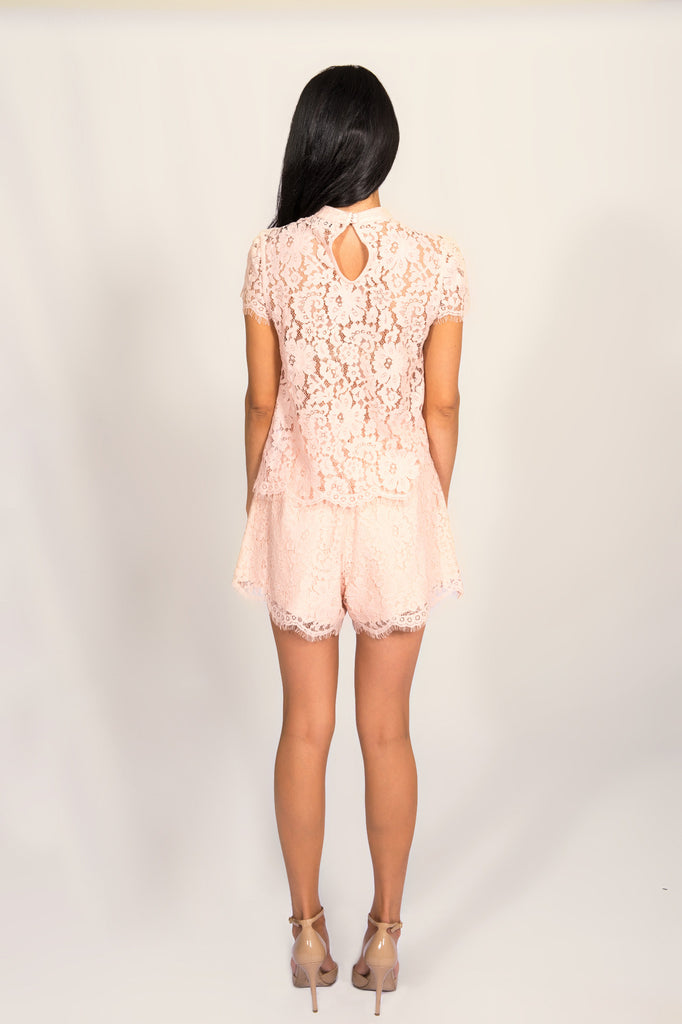 Keepsake Blush Eclipse Lace Top