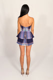 Finders Keepers Plaid Raise A Glass Playsuit