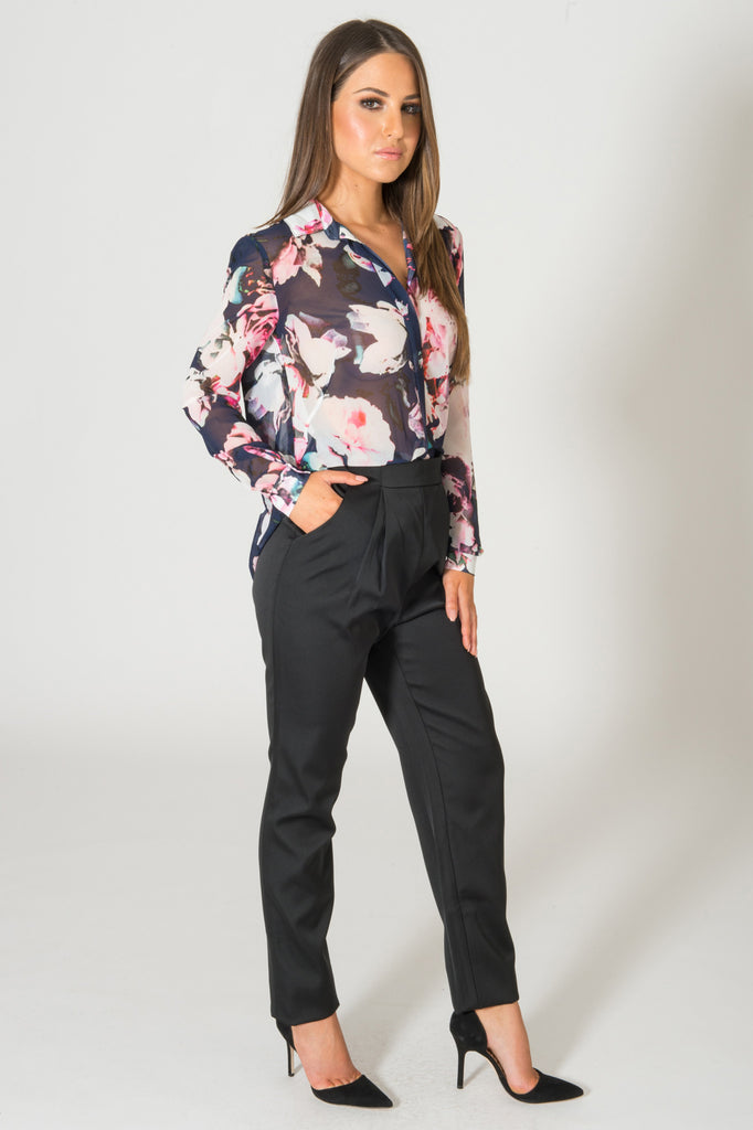 Finders Keepers Anywhere But Here Floral Blouse