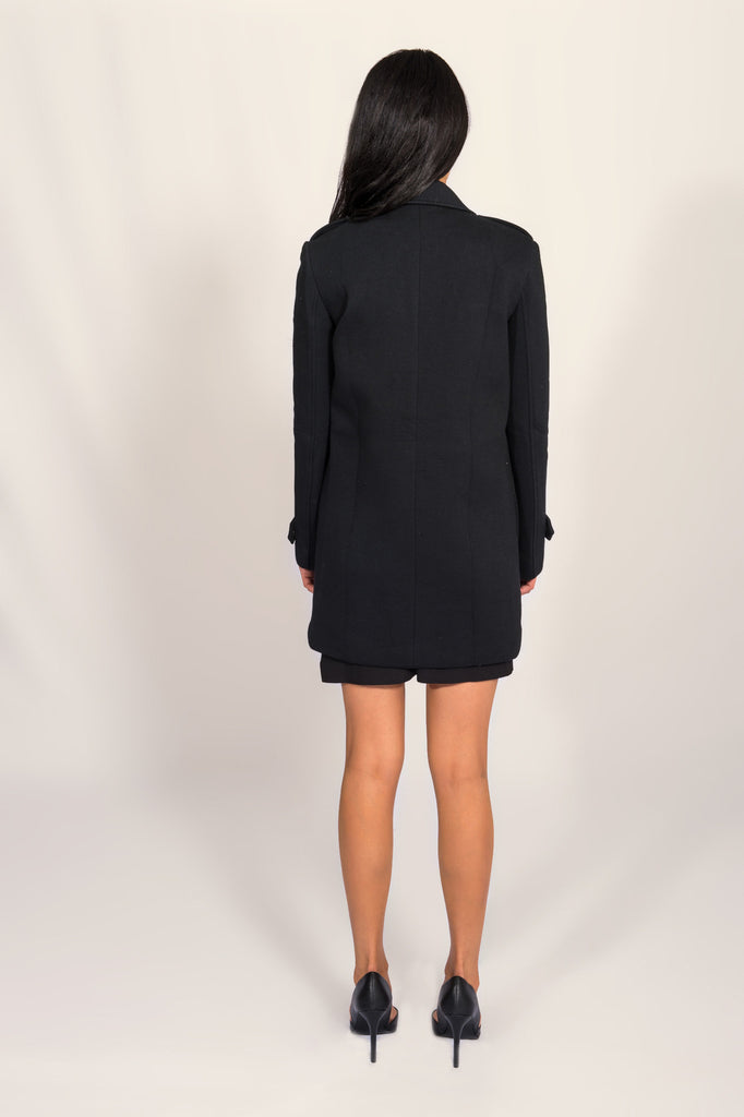 Joa Black Neoprene Coat