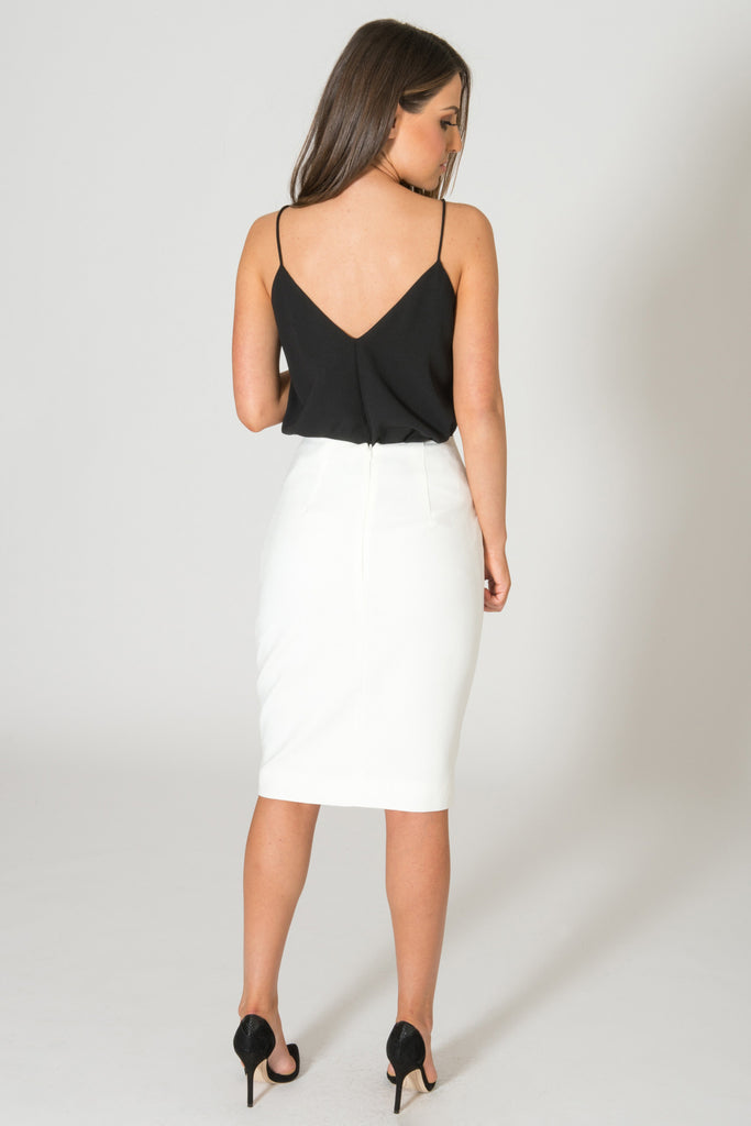 Finders Keepers Back To Town White Skirt