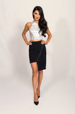 Finders Keepers Black Love Drunk Skirt