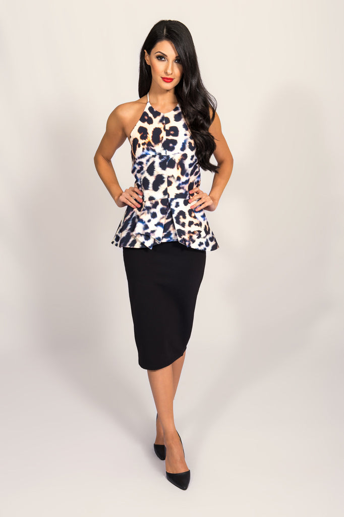 Cameo Warm Thoughts Leopard Print Top