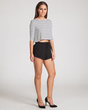 Fifth Label Hopeful Top-Ivory & Black Stripe