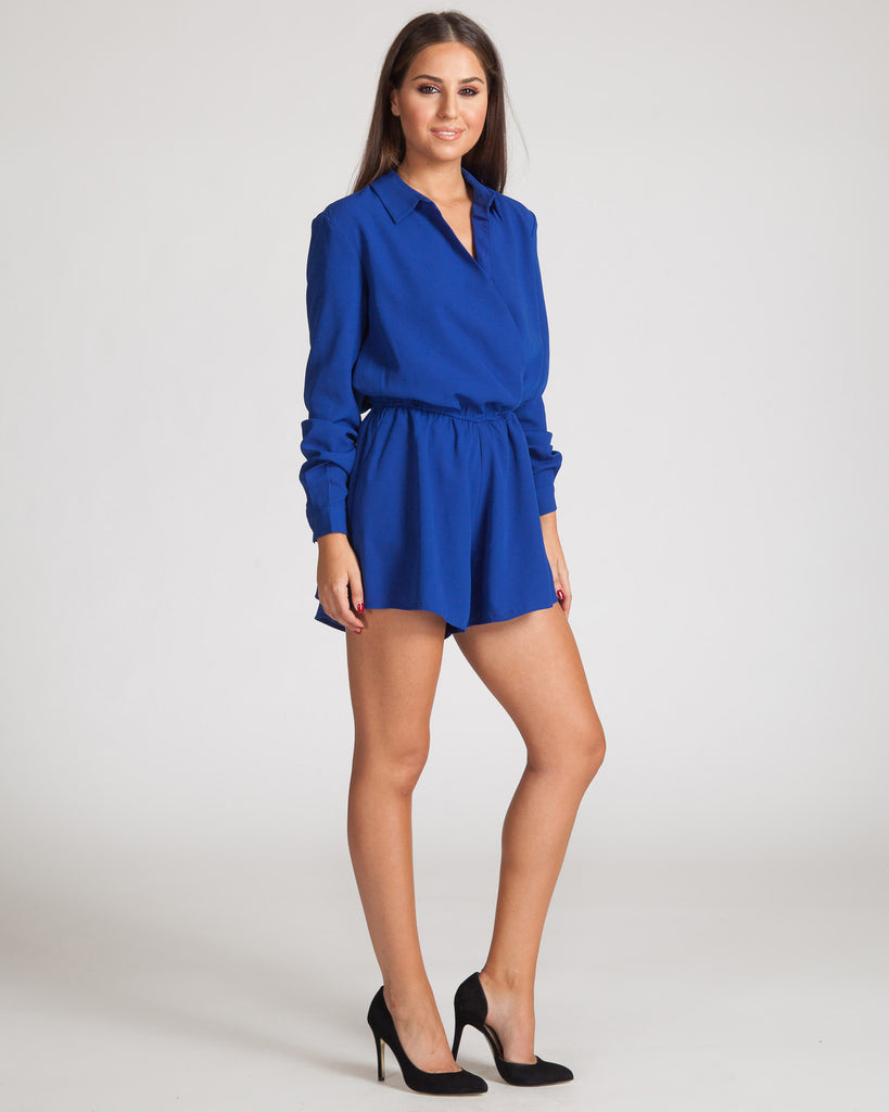 Fifth Label Desrt Rain Playsuit-Cobalt