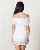 Wyldr White Lace Romaine Dress