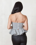 Stylestalker Chronicle Grid Crop Top