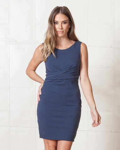 Elliatt Khaki Modern Sheath Dress