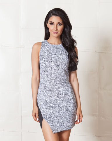 Cameo Grey Make a Move Knit Dress