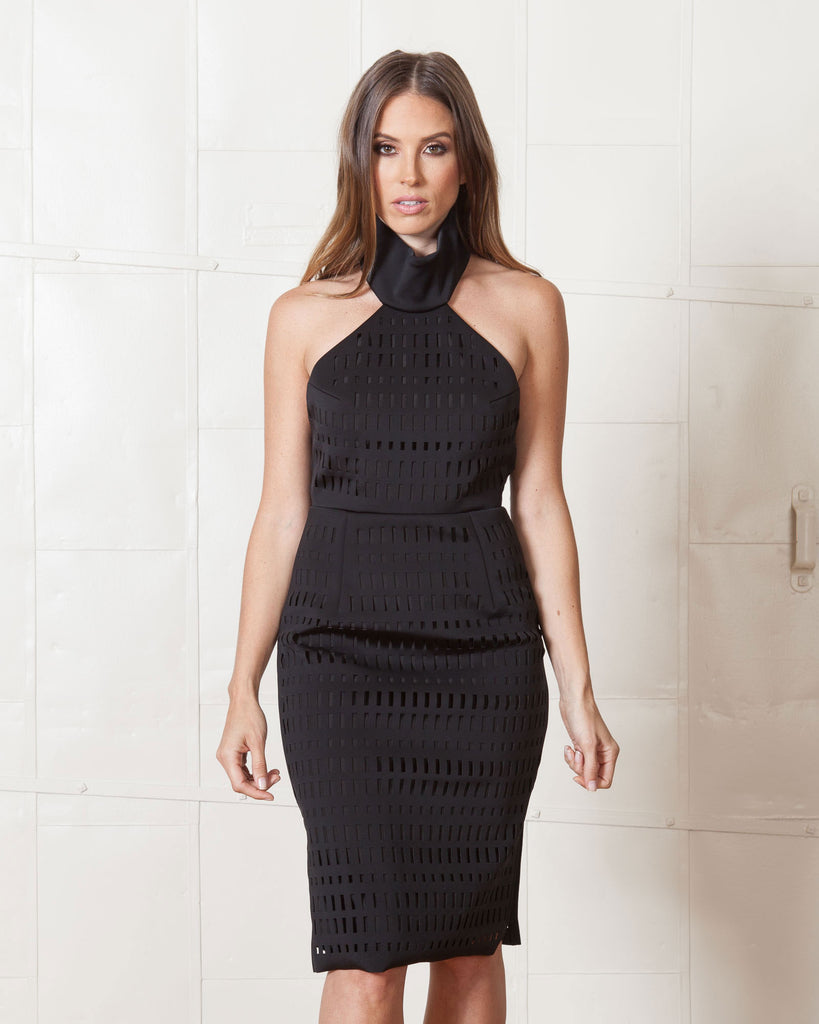 Finders Keepers Black Limitless Midi Dress