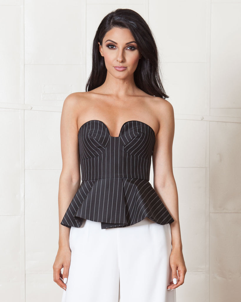 Finders Keepers Revelation Pinstripe Bustier