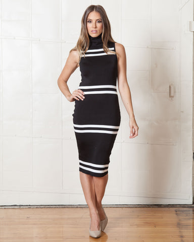 Cameo Black Waves Dress